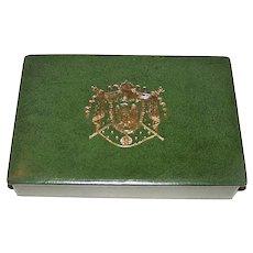 "Catel et Farcy ""Jeu de Blocus I and II"" Playing Cards, ""La Grande Armée"" and ""Les Armées Alliées"", w/ Book and Custom Case, c.1965"