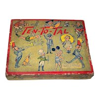 """Selchow & Righter """"Ten-To-Tal"""" Card Game, c.1935 (?)"""