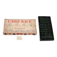 """The Embossing Co. """"Card Race"""" Card Game, c.1930"""