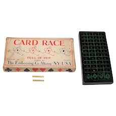 "The Embossing Co. ""Card Race"" Card Game, c.1930"