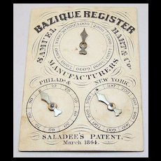 """Samuel Hart & Co. """"Bazique Register,"""" (Bezique Counter), """"Saladee's Patent,"""" c.1864"""