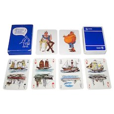 "Carta Mundi ""Sigma Coatings"" Maritime Playing Cards, Jan Sanders Designs, c.1980"