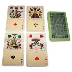 """ASS """"Kongress-Karte"""" Skat Playing Cards, Dual Suit Systems, c.1931"""