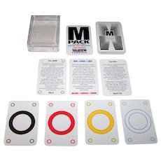 """Games and Print Services """"The M Pack: Playing Cards for the Third Millenium,"""" No Revoke Deck, Zzota Ltd. Publisher, J.J. Secker Designs, Illustrated by Zack, First Edition, c.1999"""