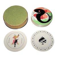 "Arrow/Arrco ""Discus"" Round Playing Cards, Art Deco Backs, c.1933"