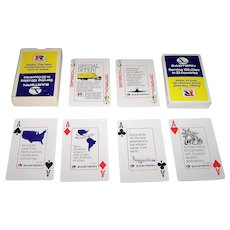 "Hoyle ""Eastern Airlines and Ryder Truck Rentals"" Advertising Playing Cards, c.1983"