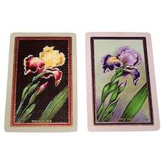 "Double Deck Dougherty ""Marguerite #130"" Playing Cards, ""Golden Iris"" and ""Purple Iris"" Backs, c.1927"