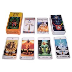 """AG Muller """"Tarot of the Ages"""" Tarot Cards, USGS Publisher, Mario Garizio Designs, First Edition, c.1988"""