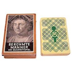 "Otto Maier Ravensburger ""Berühmte Männer"" (""Famous Men"") Quartett Card Game, c.1926"