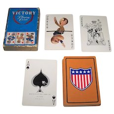 """Arrco """"Victory"""" Playing Cards, c.1945"""