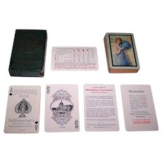 """USPC Congress 606W """"Whist Size"""" Playing Cards, """"Debutante"""" Backs, c.1923"""