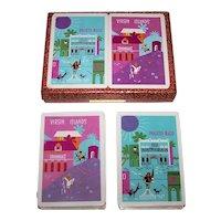 "Double Deck Piatnik Souvenir Playing Cards, ""Puerto Rico"" and ""Virgin Islands"""