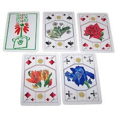 "Coeur ""Berliner Gartenschau"" (""Berlin Garden Show"") Skat Playing Cards, Lothar Gericke Designs, c.1990"