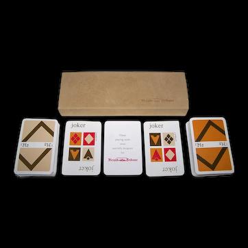"Double Deck Carta Mundi ""International Herald Tribune"" Playing Cards, J. Garçon Designs, c.2005"
