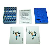 "Grimaud ""Proverbes en Humour"" Playing Cards, c.1983"