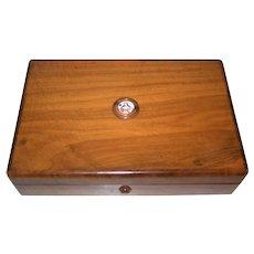 German Oak Wood Game Box w/ Chips, c.1920 (?)