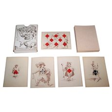 "Maximilian Frommann ""Jeanne Hachette"" Transformation Playing Cards, c.1865"