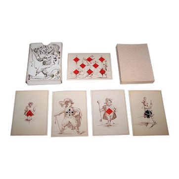 """Maximilian Frommann """"Jeanne Hachette"""" Transformation Playing Cards, c.1865"""