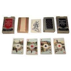 "Twin Decks VSSF ""Salon-Patience No. 182"" Patience Playing Cards, Büttner Salon-Karte Pattern, c.1931"