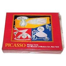 """Double Deck Piatnik """"Picasso"""" Playing Cards, """"Francoise Gilot avec Paloma et Claude,"""" Museum of Modern Art Exhibition, c.1996"""