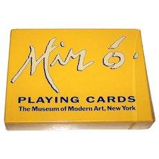 "Double Deck Piatnik ""Joan Miro"" Playing Cards, ""Acrobats in the Night Garden"" (1948) and ""Equinox"" (1967), Museum of Modern Art Exhibition, c.1993"