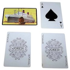 """USPC """"American President's Line"""" Maritime Playing Cards, c.1950s"""