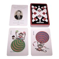 """Carta Mundi """"Circus"""" Transformation Playing Cards (Cards Only), F. Robert Schick Designer and Publisher (Posthumously), Ltd. Ed. (633/1000), c. 1988"""