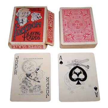 """Freedom Playing Card Co., """"Freedom"""" Playing Cards, c.1917"""