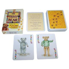 """Carta Mundi """"The Teddy Bear Pack of Playing Cards,"""" Transformation Playing Cards, Andrew Jones Art Publisher, Peter Wood Designs, c.1994"""