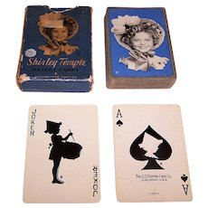 """Double Deck USPC """"Shirley Temple"""" Playing Cards, c.1935"""