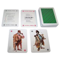 """Masenghini """"Berthold Brecht"""" Playing Cards, San Paolo Instituto Bancario, Paolo Frescu Designs, c.1982"""