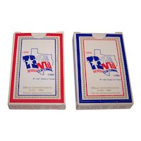"""Twin Decks Alief Products """"Texas"""" Playing Cards, Texas Sesquicentennial Deck, Wayne Cook Illustrations, c.1985"""