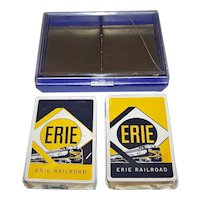 "Double Deck Brown & Bigelow ""Erie Railroad"" Railroad Playing Cards, c. 1955"