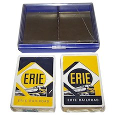 """Double Deck Brown & Bigelow """"Erie Railroad"""" Railroad Playing Cards, c. 1955"""