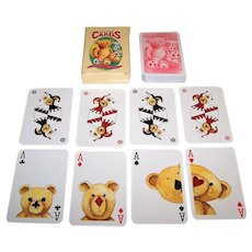 "Carta Mundi ""Teddy Bear"" Playing Cards, Semi-Transformation, Lyons Quickbrew Tea, Peter Wood Designs, 1990s"