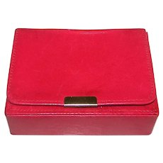 Pineider Red Leather Card Case