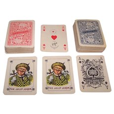 "Double Deck Piatnik Nándor és Fiai ""Wienerbild"" (""Vienna Small Crown"") Playing Cards, c.1950"