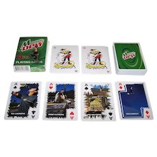 "Carta Mundi ""Mountain Dew"" Advertising Playing Cards, Extreme Sport Athletes: Cooke, Hinkley, Chanita, Glifberg"