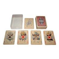 "Speelkaarten Fabriek Nederland ""Maritime"" Playing Cards, J. Verhoeven Designs, c.1938"
