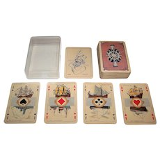 "Speelkaarten Fabriek Nederland ""Maritime"" Playing Cards, J. Verhoeven Designs, c.1938"