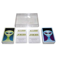 "Double Deck We're on a Roll Co., Inc. ""Alien"" Playing Cards, CoffeyCup Productions Designs, c.1996"