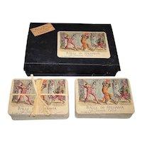 """Double Deck Papier Arti e Mestieri """"Balli di Sfessania di Jacomo Callot"""" Playing Cards, c.2004"""