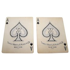"USPC ""TEMCO 328"" Pinochle Playing Cards, ""Tower Manufacturing and Novelty Co.,"" c.1905"