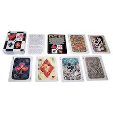 """Lark Books """"The Art Quilt: A Full Deck"""" Playing Cards, 54 Quilt Artists Designs, Breger & Associates Photographs, c.1994"""