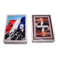 "Grimaud ""Charles de Gaulle"" Playing Cards, c.1990"