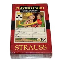 """Lo Scarabeo """"Strauss"""" Facsimile Playing Cards, [Original: Dondorf No. 227, """"Musical"""" c.1860s], c.2004"""