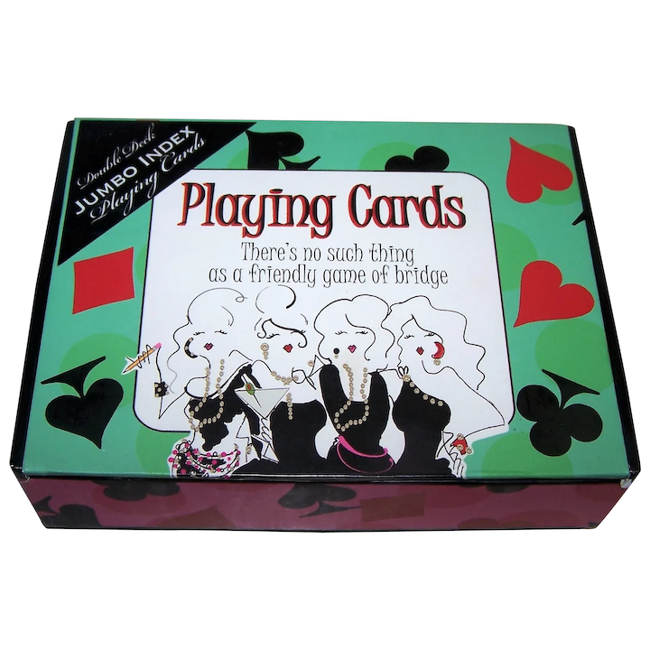 Unopened Double Deck with Box Vintage Playing Cards Tax Stamp