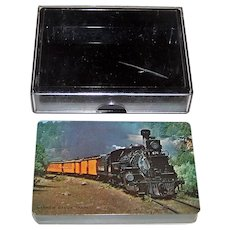 "Arrco ""Denver & Rio Grande Western"" Railroad Playing Cards, ""Narrow Gauge Train,"" DRGW-14, c.1965"