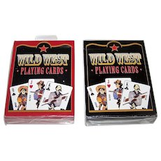 "Twin Decks USPC ""Wild West"" Playing Cards, Fashionwest Accessories Publ., c.2003"