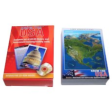 "Know the USA, Inc. ""Know the USA"" Educational Cards, w/ Interactive CD-ROM"